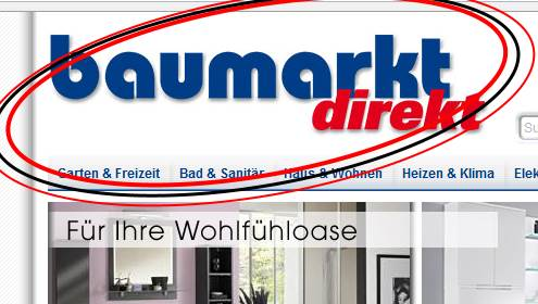 Teile vom baumarktdirekt.de Logo.