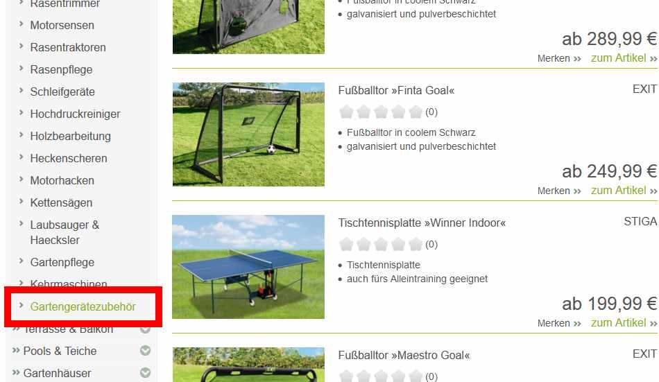 Tischtennisplatten werden in der Kategorie für Gartengerätezubehör angeboten